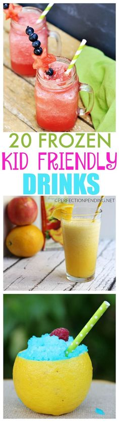 If you're looking for refreshing non-alcoholic summer drinks that are kid-friendly, and perfect to cool you off, then you have to try some of these easy delicious drink ideas. Whether you want a milks (Cool Easy Drinks) Smoothie Drinks, Healthy Smoothies, Healthy Drinks, Smoothie Recipes, Drink Recipes, Kid Drinks, Frozen Drinks, Beverages, Summer Drinks Kids