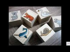 Pyrography and watercolors -Wooden alphabet blocks Wooden Alphabet Blocks, Pyrography, Watercolors, Make It Yourself, Youtube, Projects, Blog, Log Projects, Water Colors