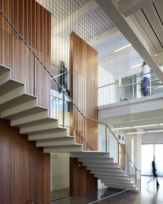 Iowa Utilities Board/Office of the Consumer Advocate Office Building. Interior Staircase, Lobby Interior, Stairs Architecture, Modern Staircase, Grand Staircase, Staircase Design, Interior Exterior, Interior Architecture, Stair Design