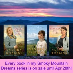My Smoky Mountain Dreams Series is on Sale until April - Sandra Robbins Historical Romance Books, Smoky Mountain, Southern Style, Homecoming, Christian, Dreams, Reading, Reading Books, Christians
