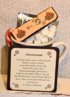 Kreative Ideen rund ums Basteln, Scrapbooking , Kochen und Backen: Schneemannsuppe