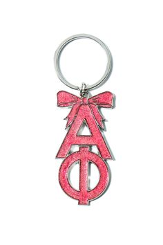 Alpha Phi Sorority Pink Glitter Keychain  $8.00 (plus group discount pricing)  <3 Alpha Phi Sorority, Greek Girl, Pink Glitter, Girls Shopping, Group, Silver, Money