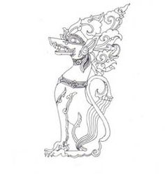 Laos Or Cambodian Protection Scroll Tattoo Picture At