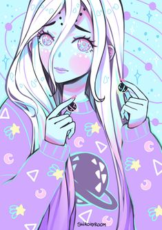 Find images and videos about art, anime and kawaii on We Heart It - the app to get lost in what you love. Kawaii Anime, Kawaii Goth, Cute Alien, Creepy Cute, Manga Art, Manga Anime, Anime Art, Gothic Kunst, Gothic Art