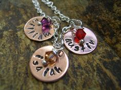 Hand Stamped Personalized Triple Disc with by KottageKreations, $26.00