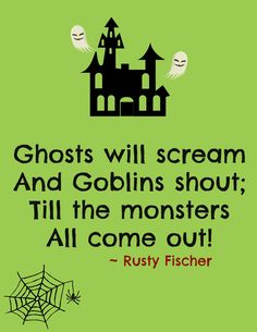 Scream and shout... A Halloween poem