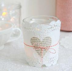 einfache Idee-Kerzen selber basteln-Spitze