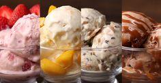 Aprenda a fazer os quatro sorvetes.   Estes quatro sorvetes vão fazer você ter dificuldade de escolher o...