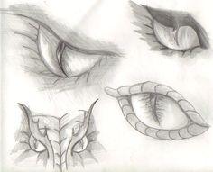 dragon eyes sketch by ~katwomyn4ever on deviantART