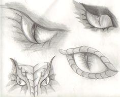 dragon eyes sketch by ~katwomyn4ever on deviantART