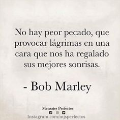 Luv you Bob Marley The Words, More Than Words, Words Quotes, Me Quotes, Sayings, Ex Amor, Frases Love, Quotes En Espanol, Love Phrases