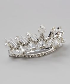 Look at this #zulilyfind! Faux Pearl & Silvertone Tiara #zulilyfinds