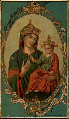 Santissima Vergine della Consolata A souvenir from the shrine of Our Lady of Consolation in Turin, Italy.