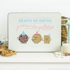 Caja metálica wonder - Déjate de dietas y come más galletas