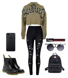 """""""Unbenannt #44"""" by jessicametche on Polyvore featuring Mode, Topshop, Dr. Martens und NARS Cosmetics"""
