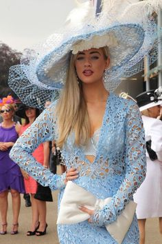 Yesterday was Ladies Day at the Royal Ascot, one of the biggest days in racing. More importantly, it's one of the biggest days in hats! Royal Ascot Ladies Day, Royal Ascot Hats, Race Day Outfits, Outfits With Hats, Kentucky Derby Outfit, Fancy Hats, Big Hats, Pamela, Hats For Women