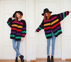 Michaela Scalisi - Escada Coat - Color Block