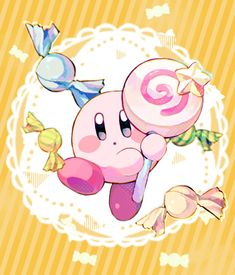Kirby Character, New Animal Crossing, Art Corner, Video Game Art, Video Games, Abstract Drawings, Kawaii Cute, Cute Wallpapers, Cute Drawings