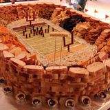 The Ultimate Super Bowl Snack Stadium...many different creations.