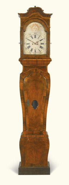 A walnut longcase clock, German, circa 1750 -- Sotheby's