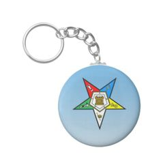 OES Order of the Eastern Star Blue Key Chains