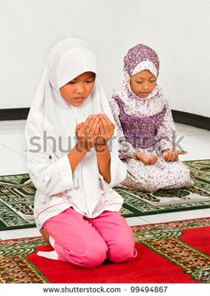 children praying | Muslim Children Praying In Mosque Stock Photo 99494867 : Shutterstock