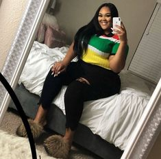 Stylish Plus-Size Fashion Ideas – Designer Fashion Tips Thick Girls Outfits, Curvy Girl Outfits, Plus Size Outfits, Plus Size Birthday Outfits, Look Plus Size, Plus Size Girls, Plus Size Women, Plus Size Fashion For Women, Black Women Fashion