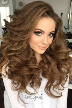 Big Curly Layered Hairstyle Full Fringe Long Synthetic Capless Women Wigs 24 Inches - Big Curly Layered Hairstyle Full Fringe Long Synthetic Capless Women Wigs 24 Inches fashion for women Curly hairstyle - Long Face Hairstyles, Pretty Hairstyles, Wedding Hairstyles, Hairstyle Ideas, Curly Haircuts, Asian Hairstyles, Hairstyles 2018, Amazing Hairstyles, Hairstyles Pictures