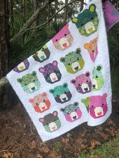 NEW Bjorn Bear Quilt Kit featuring Spirit Animal by Tula Pink