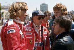 James Hunt, Niki Lauda Bernie Eccleston