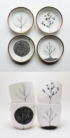 I can do this with the Sharpie idea. Mug, Sharpie design on mug, 350 degree oven for 30 min. -my note: draw with sharpie on mason jar lids and pin to wall Sharpie Crafts, Sharpie Art, Sharpie Projects, Sharpie Plates, Oil Sharpie, Sharpie Drawings, Sharpie Doodles, Sharpie Designs, Mug Designs
