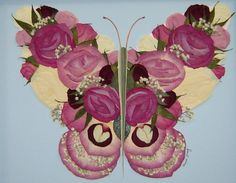 Hand Made Memorial Pressed Flower Art (Flowers Gathered From A ...