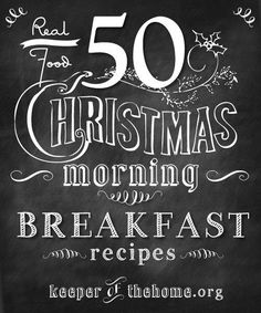 50 great REAL FOOD breakfast and brunch recipes for Christmas – or any occasion!