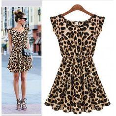 Vestido Animal Print - Leopard
