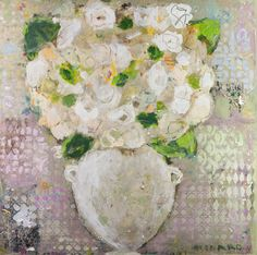 """Bouquet and Diamonds"" 36x36 mixed media Shain Gallery 704-334-7744"