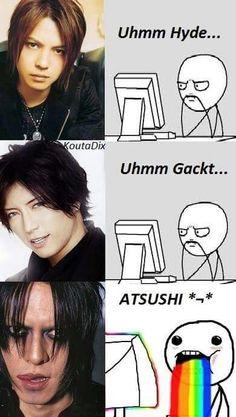 Hyde, Gackt and Atsushi Sakurai. L'Arc~en~Ciel, Solo Artist and Buck-Tick