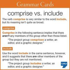 Comprise vs Include