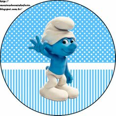 Smurfs: Free Printable Candy Bar Labels for Boys Party. 4th Birthday Parties, Boy Birthday, Care Bear Party, Candy Bar Labels, Oh My Fiesta, Welcome Banner, Smurfette, Baby Party, Preschool Crafts