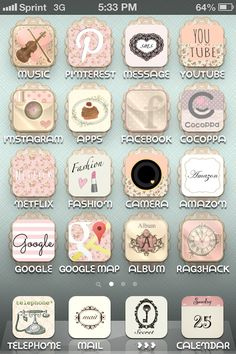 Cocoppa! As soon as I get my upgrade its all about the shabby chic make over :) Can't wait!