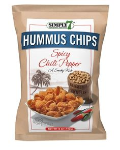 I love hummus. Can't wait to try these! Simply 7 Hummus Spicy Chili Pepper Chips Crum Creek ~ a great snack with a little kick!