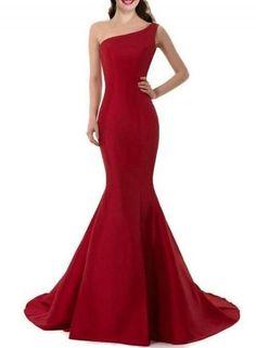 #Oasap.com - #Roawe Women's Elegant One Shoulder Prom Dress - AdoreWe.com