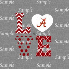 Love Alabama SVG, DXF, EPS, PNG Digital File – Wickedly Cute Designs