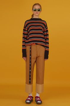 Camel Rollup Cotton Pants ADER error store #AderSpace