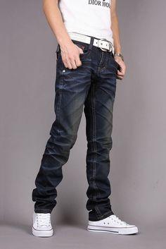 Trend  Fashion Korean Slim Fit Mens' Straight Jeans XS/S/M/L/XL/XXL/XXXL @S0H808-1