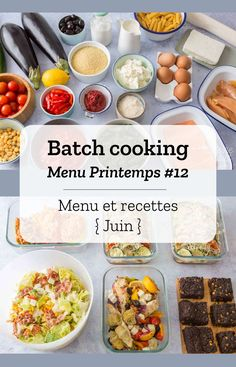 Batch cooking Spring # 12 - Menus, recipes and shopping list for the week of June 10 to 2019 - Cooking With Kids Easy, Kids Cooking Recipes, Batch Cooking, Healthy Cooking, Healthy Recipes, Healthy Food, Quick Vegetarian Meals, Dinner Recipes For Kids, Cooking Pork Roast