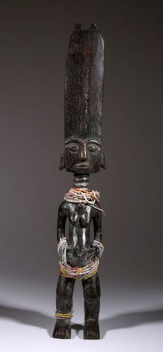 Africa | Doll from the Fanti people of Ghana | Wood and glass beads | ca. 30 yrs old