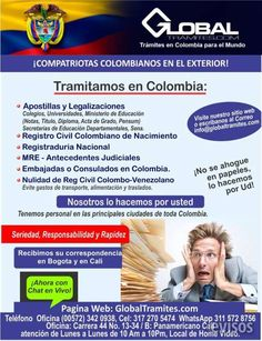 """""""COLOMBIANOS!!! LEGALIZAMOS DOCUMENTOS PARA CHILE!!!""""  COMPATRIOTAS  COLOMBIANOS  EN  CHILE      SI  NECESIT ..  http://santiago-city-2.evisos.cl/colombianos-legalizamos-documentos-para-chile-id-614845"""