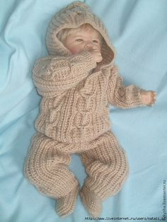 Knitting For Kids, Baby Knitting, Baby Patterns, Knitting Patterns, Knitted Baby Clothes, Baby Girl Crochet, Knit Wrap, Reborn Babies, Baby Items