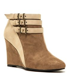 Look at this Qupid Taupe Marilyn Bootie on #zulily today!