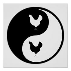 Yin Yang Poultry. If Poultry is your hobby, occupation, or obsession, show it with great Poultry t-shirts, mugs, stickers, and more.  They're also great gifts for other Poultry fans!
